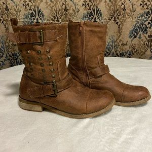 Cathy Jean Brown Studded Boots
